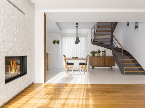 Modern apartment with staircase
