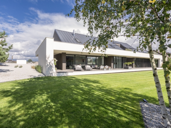 Outdoors view of modern house